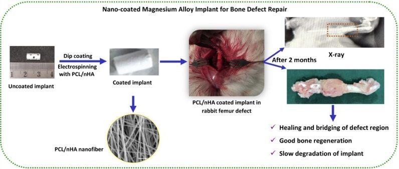 ایمپلنت حاوی نانوپوشش پلیمری برای رفع نقص استخوان آسیبدیده